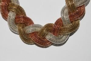 Geflochtene Choker Halskette